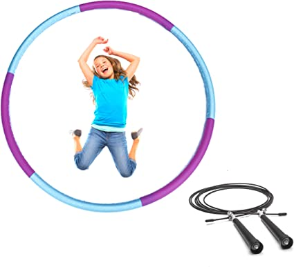 Green REDSEASONS Hula Hoop for Adults,Lose Weight Fast by Fun Way to Workout,Easy to Spin Premium Quality and Soft Padding Hula Hoop,with Free Accessory Skipping Rope