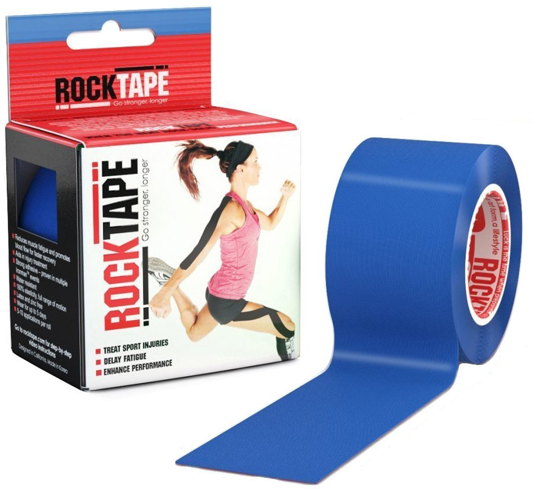 Rocktape Kinesiology Tape for Athletes (Navy Blue, 2-Inch x 16.4-Feet) by Rocktape