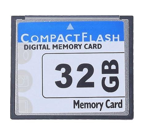 niceEshop(TM) Tarjeta Compact Flash Memory Profesional 32GB (blanco y Azul)