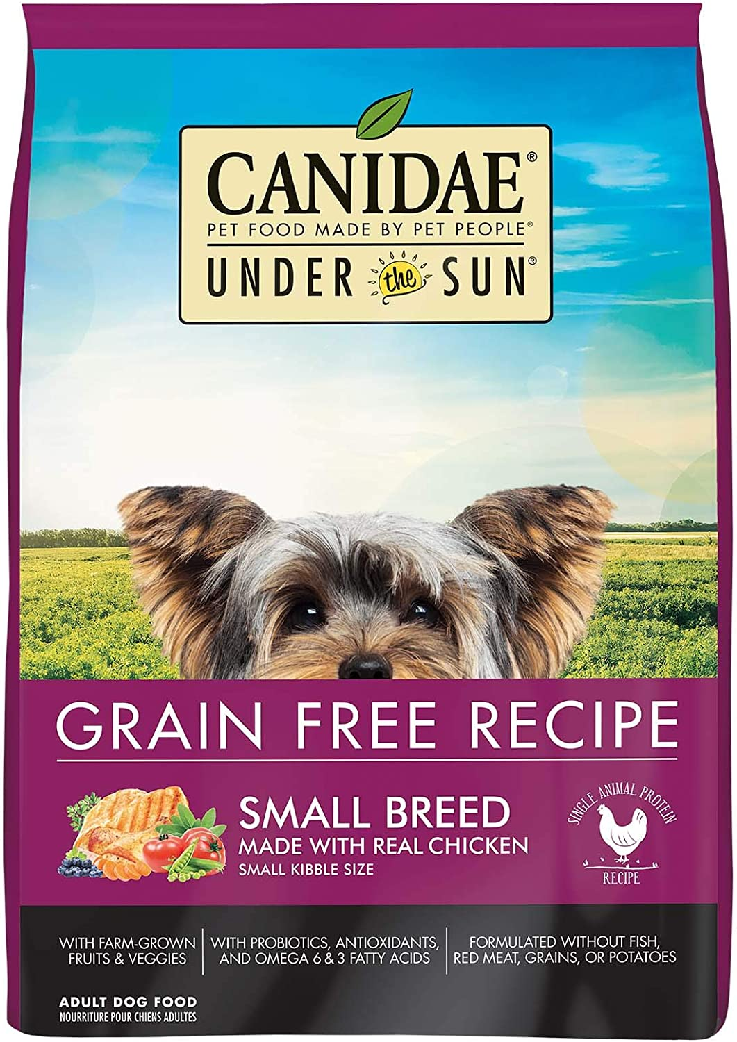 CANIDAEUnder The SunGrain Free Small Breed Adult Dog Food With Chicken 4lbs