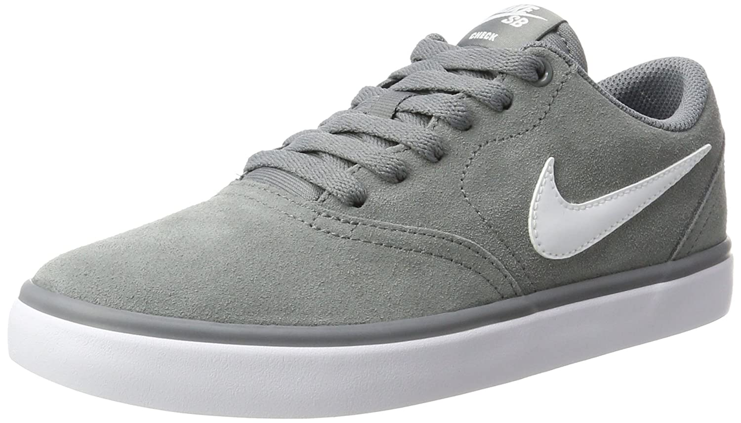 NIKE Men's SB Check Solar Skate Shoe 4 D US|Grey