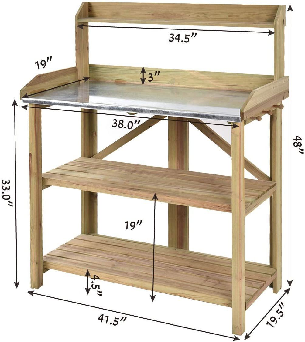 2 bandejas de Almacenamiento Generic Tool Estanter/ía con 2 estantes para Taller