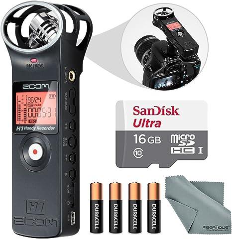 Amazon Com Zoom H1 Portable Digital Audio Recorder Bundle With 16