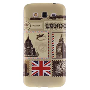 Coque Samsung Galaxy Grand 2 SM-G7106, Coffeetreehouse Housse Etui Protection Full Silicone Souple Ultra Mince Fine Slim pour Samsung Galaxy Grand 2 SM-G7106, Samsung Galaxy Grand 2 SM-G7106 Étui en TPU silicone - US Timbres