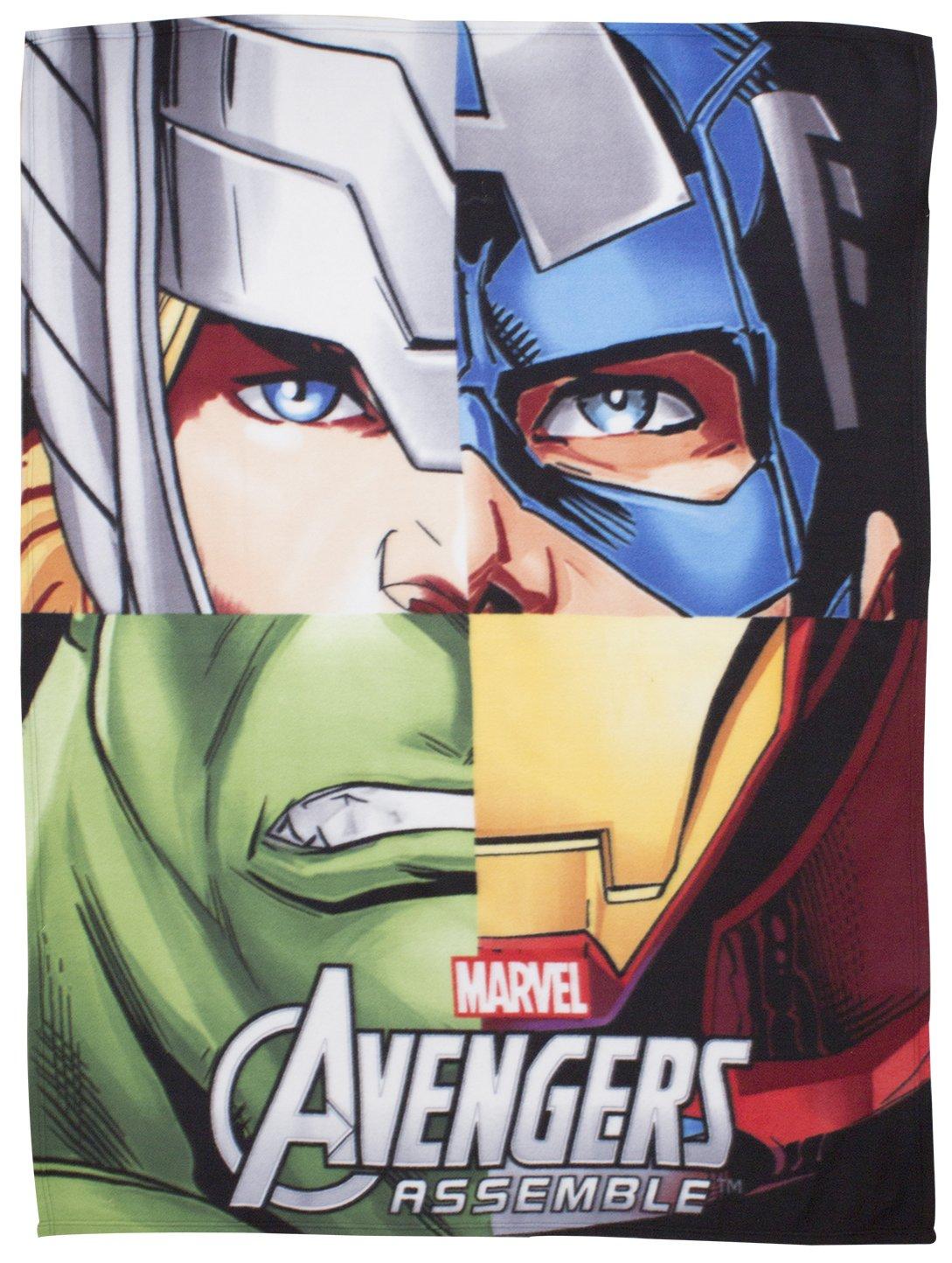 Character World Disney Marvel Avengers Team Fleece Blanket, Multi-Color DMATEMFL001UK