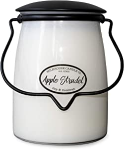Milkhouse Candle Company, Creamery Scented Soy Candle: Butter Jar Candle, Apple Strudel, 22-Ounce