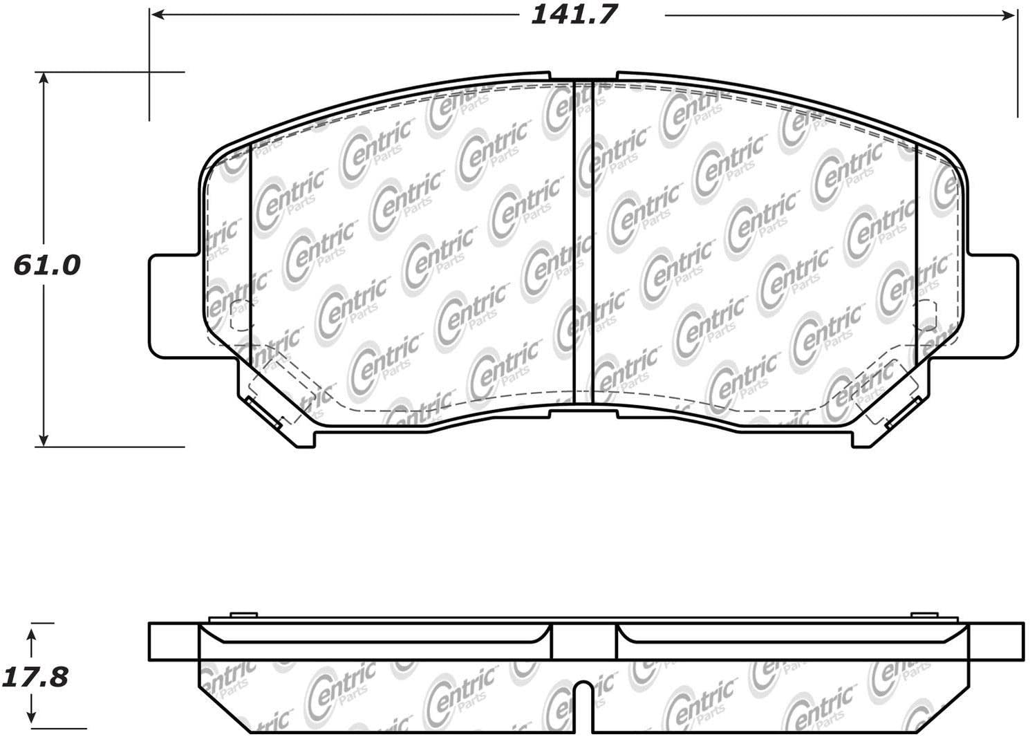 StopTech 105.16400 Brake Pad Ceramic