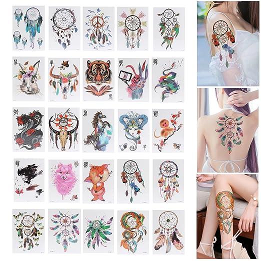 FURU - Tatuaje temporal, 1 unidad, impermeable, diseño de ...