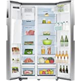 SMETA 36 Inch Side-by-Side Refrigerator 26.3 Cu.Ft Freestanding with Auto Ice Maker and Water Dispenser Large Capacity Refrig