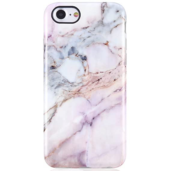 online store 8fb30 edc34 iPhone 7 Case,iPhone 8 Case,Pink Marble for Girls Women,VIVIBIN  Anti-Scratch Shock Proof Soft TPU Gel Case Silicon Protective Skin Cover  for iPhone 7 ...