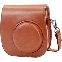 Fujifilm Instax Mini 9 Case, Leebotree Camera Case for Fujifilm Instax Mini 9/Mini 8/8+ with Soft PU Leather and Shoulder Strap (Brown)