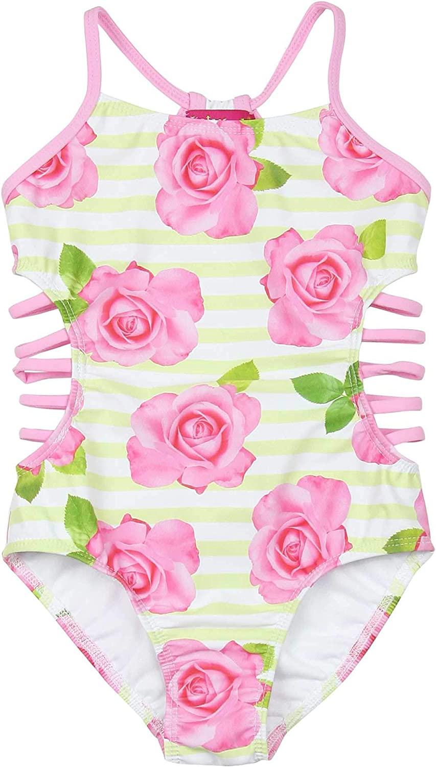 Kate Mack Girls' Garden Rose One-Piece Swimsuit, Sizes 4-12