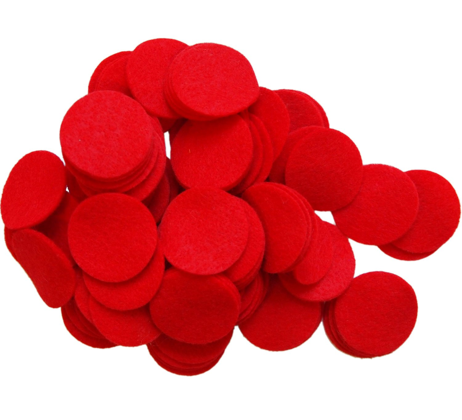 Playfully Ever After 1.5 Inch Red 94pc Felt Circles