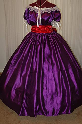 Victorian Clothing, Costumes & 1800s Fashion Custom Civil War Reenactment Ladies Ball Gown Blue Pink Purple 8 10 12 14 16 18 $75.00 AT vintagedancer.com