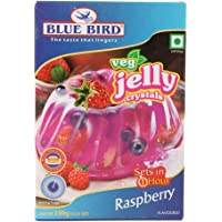 Blue Bird Jelly Crystals - Raspberry, 100g Carton