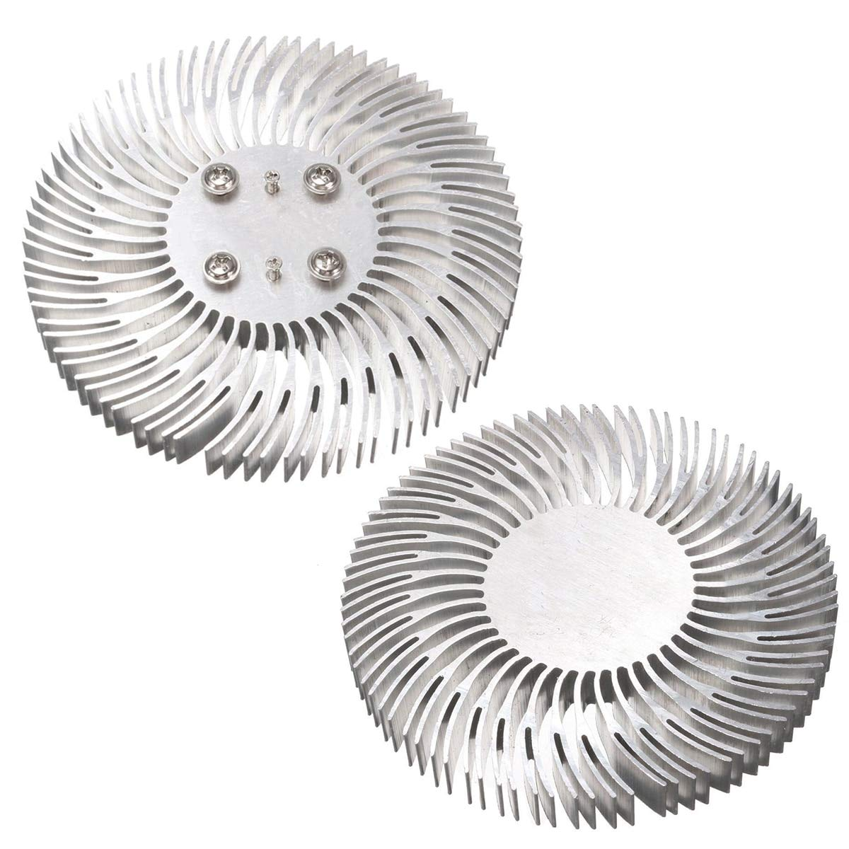 1pc Round Spiral Aluminum Heat Sink Radiator 9010mm With 6pcs Screws For 10W High Power LED Lamp Heat Dissipation Mayitr HAT33807