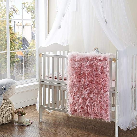 Amazon.com: OJIA Tapete peludo, de lana sintética ...