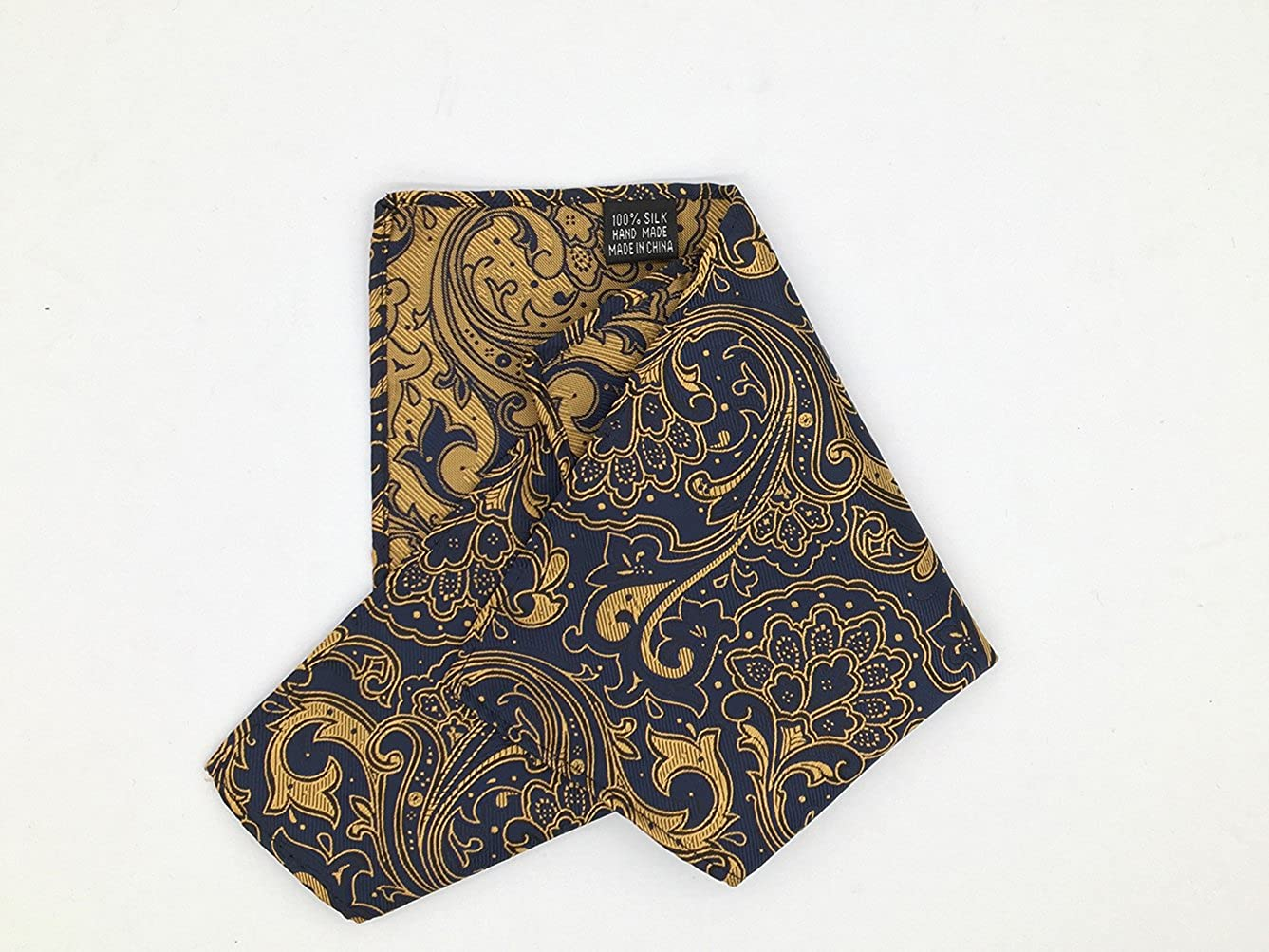 MOHSLEE Mens Yellow Floral Pre-Tied Bowtie Party Suit Bow Tie Pocket Square Set