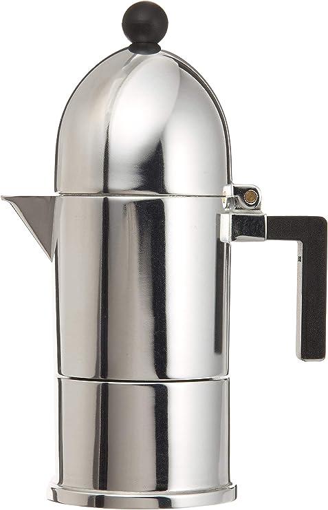 Alessi A9095/1 B La Cupola - Cafetera italiana (1 taza), color negro: Amazon.es: Hogar