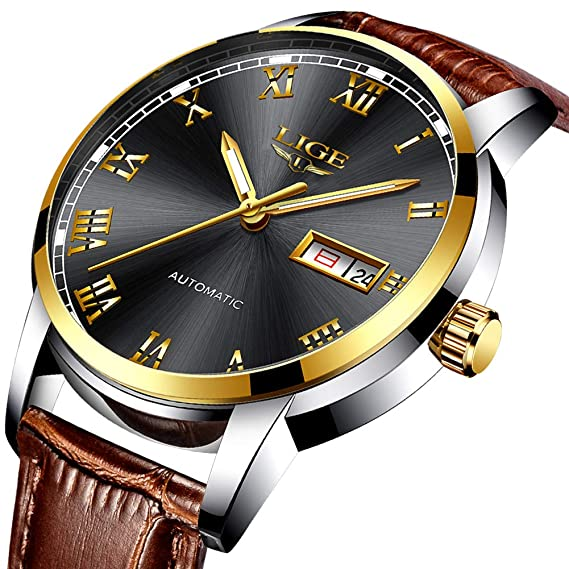 7a89909b0f7 Mens Watches Fashion Business Analog Quartz Watch Luxury Brand LIGE Casual  Date Dress Watch Simple Leather