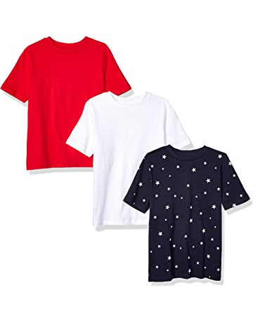8dcd2bd96 Amazon Essentials Boys' 3-Pack Short Sleeve Tee