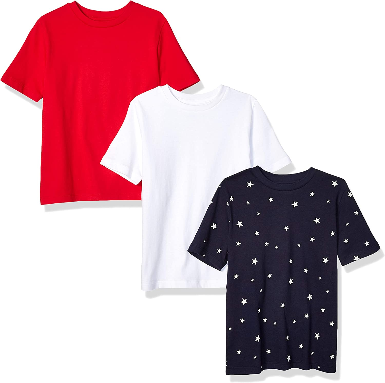 Amazon Essentials Boy's 3-Pack Short Sleeve Tee