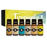 Amazon Price History for:Tropical Gift Set of 6 Premium Grade Fragrance Oils - Coconut Cream, Bay Rum, Pina Colada, Tahitian Vanilla, Ocean Breeze, Pineapple - 10Ml - Scented Oils