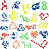 Ganowo 24 Pack Fidget Snake Cube, Mini Twist Puzzle Party Bag Fillers Bulk Toys for Kids Teens Birthday Stocking Stuffers Par