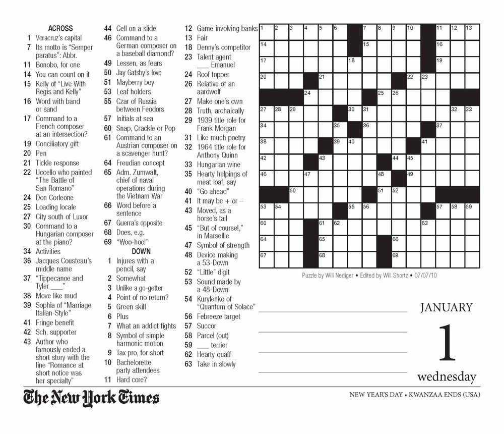 photograph about New York Times Crossword Printable Free Sunday identify The Clean York Periods Crossword Puzzles 2014 Calendar: The Clean