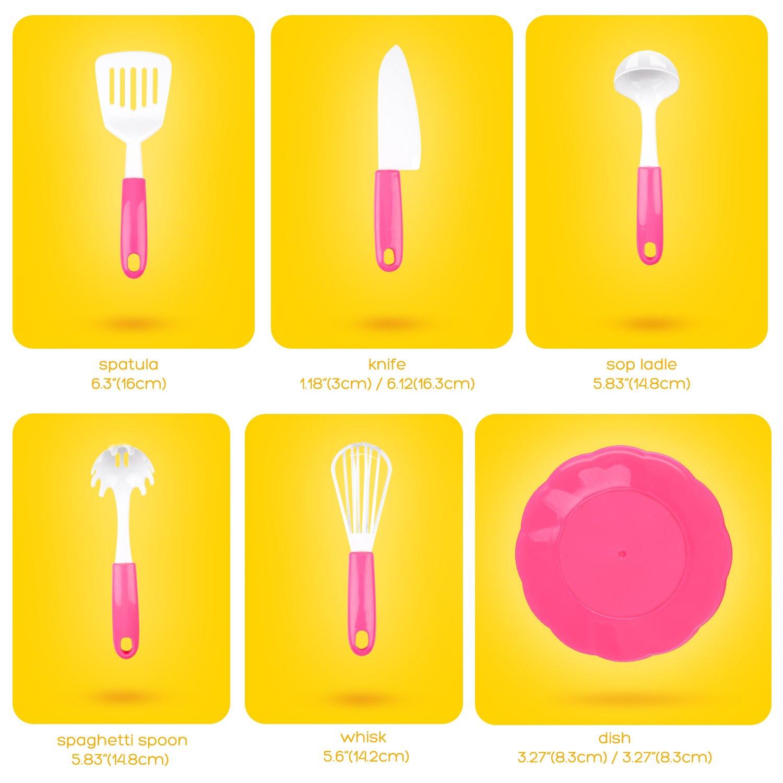 Peradix 19 piezas Utensilios de Cocina de Juguete