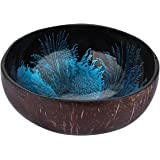 BESTONZON Coconut Bowls Natural Coconut Shell Storage Bowl Coconut Serving Bowls Candy Container Nuts Holder(About 5.3 x…