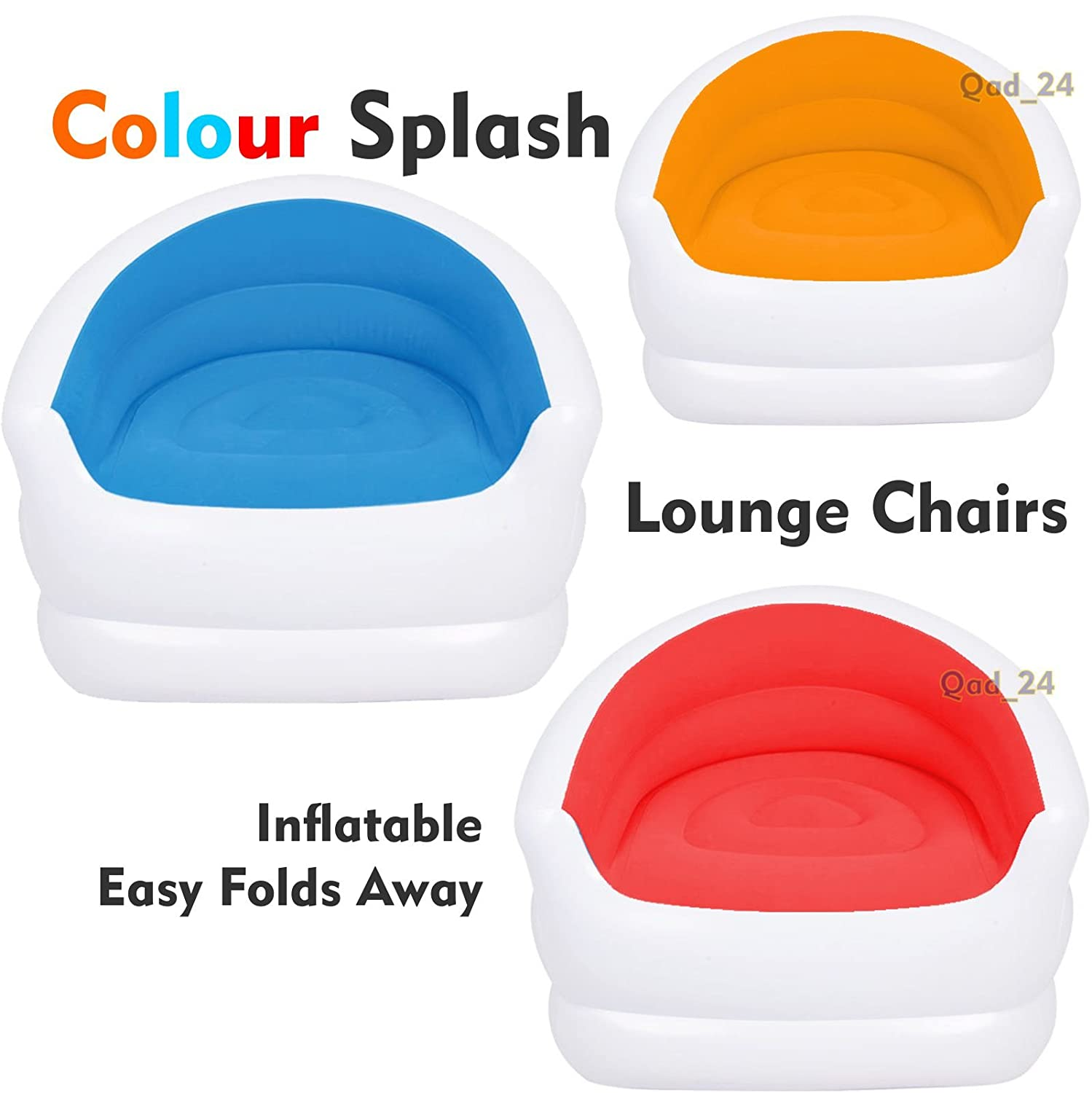 Sensational Colour Splash Lounge Chair Seat Inflatable Couch Sofa Camping Gaming Pod Beach Orange Dailytribune Chair Design For Home Dailytribuneorg