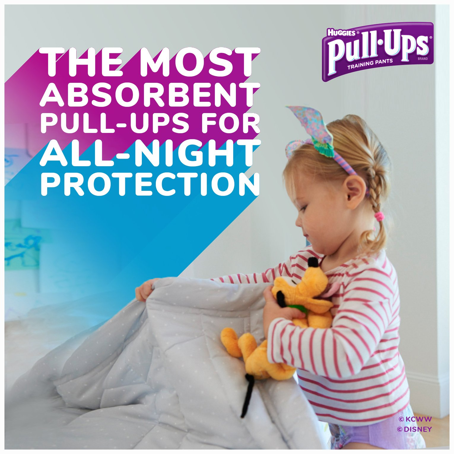 Pull-Ups Night-Time Potty Training Pants for Girls, 3T-4T (32-40 lb.), 20 Ct. (Packaging May Vary) (Pack of 4) by Huggies (Image #6)