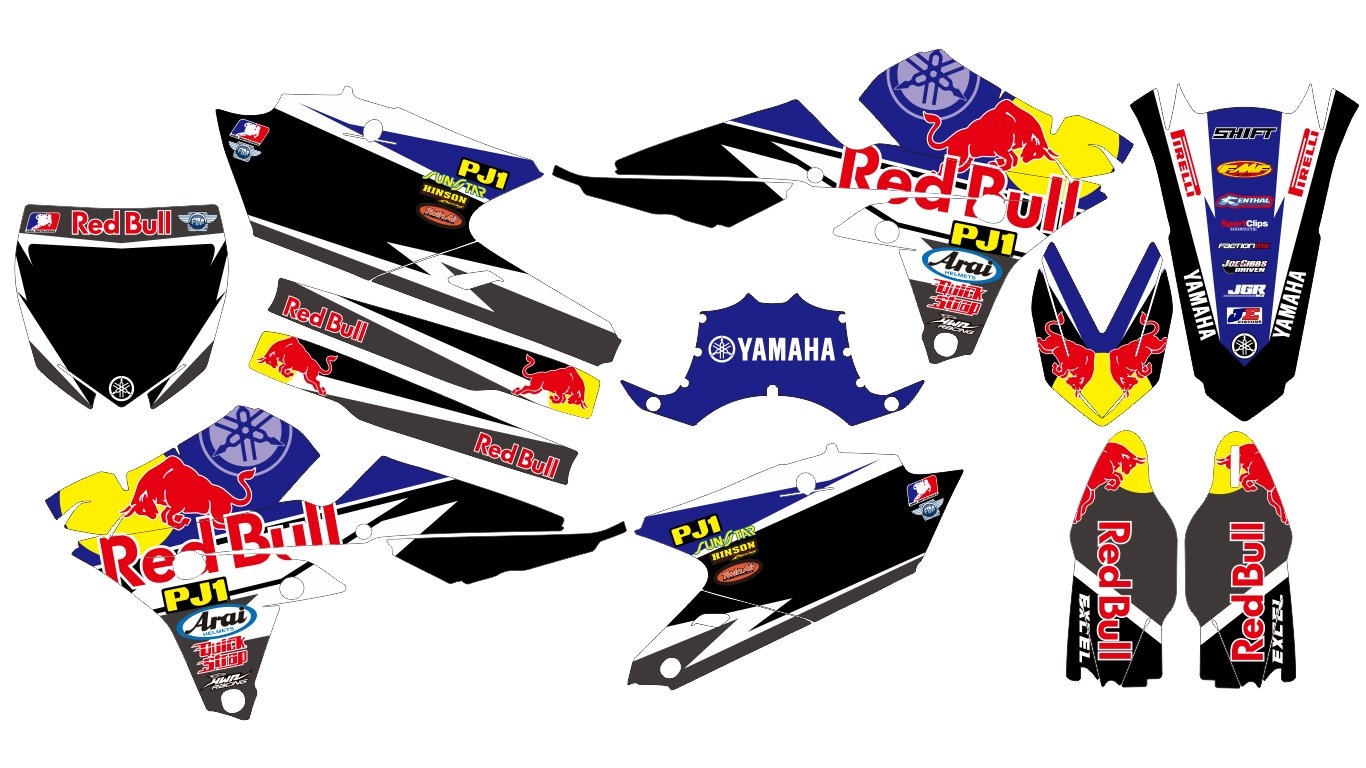170808 redbull yamaha yz250f yz450f 2014 2015 2016 14 16 decals stickers graphics kit trim decals amazon canada