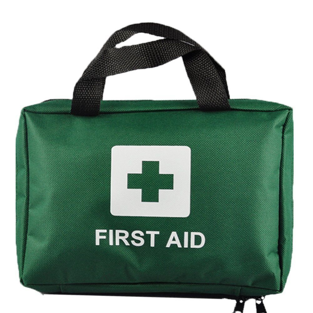 99pcs Supreme First Aid Kit Bag - Inc. Eye Wash, Crepe, Ice Pack, Thermal Blanket - Home, Office, Vehicle, Workplace, Travel, Camping (GREEN)