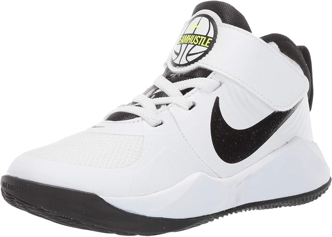 Nike Team Hustle D 9 (PS), Zapatillas Altas Unisex Niños, Blanco ...