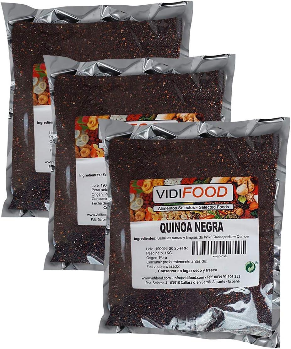 Quinoa Negra - 3kg - Fuente Rica de Aminoácidos, Vitaminas y Minerales - 100% Natural y Sin Toxinas
