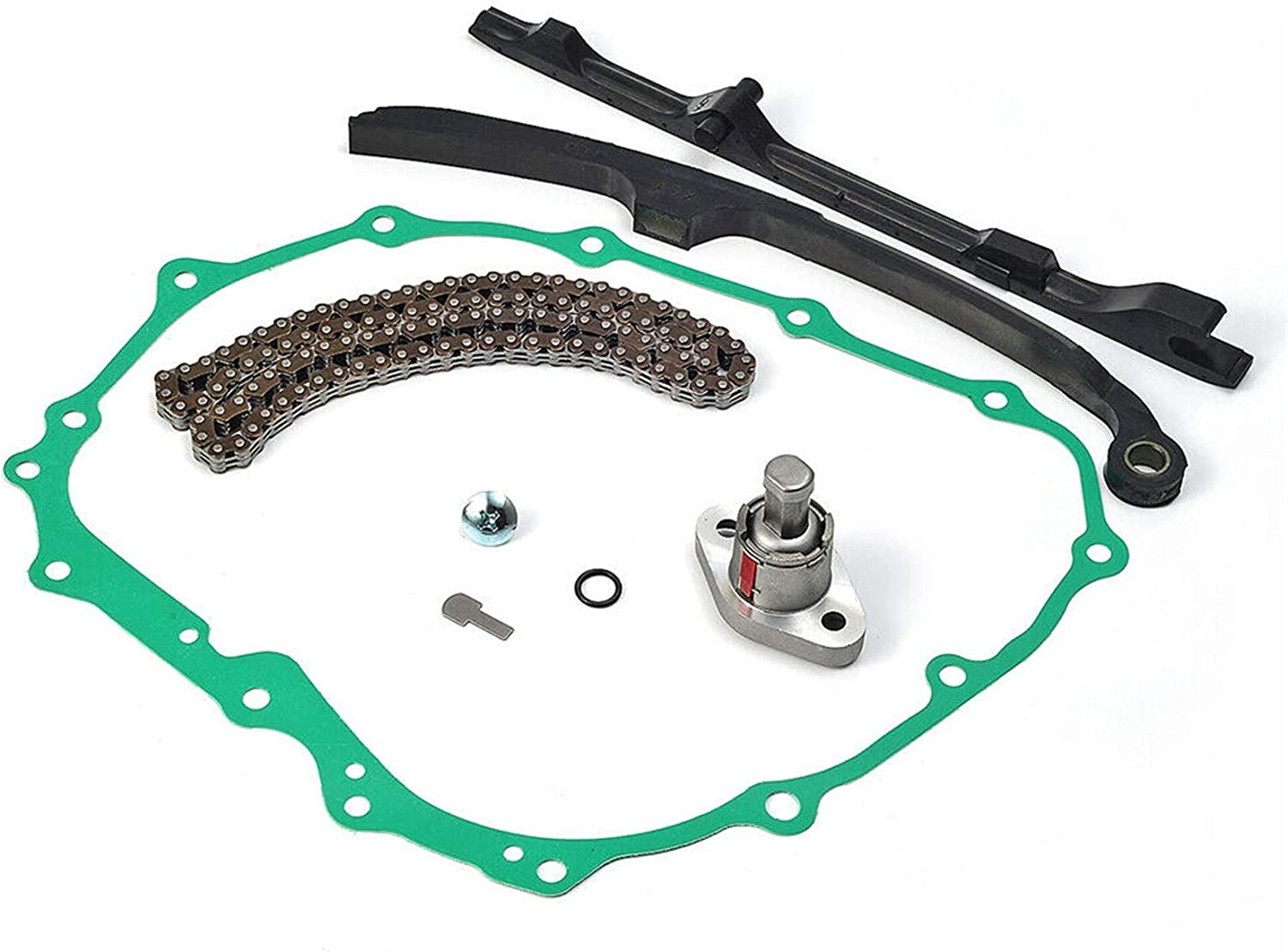 labwork Cam Timing Chain Guides Tensioner /& Cover Gasket Replacement for Honda TRX400EX TRX400X Replaces 14520-KCY-671 14511-KCY-670 14620-KCY-670