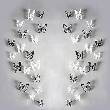 Littleduckling 18 3D Schmetterling Wand Aufkleber Art Aufkleber Home ...