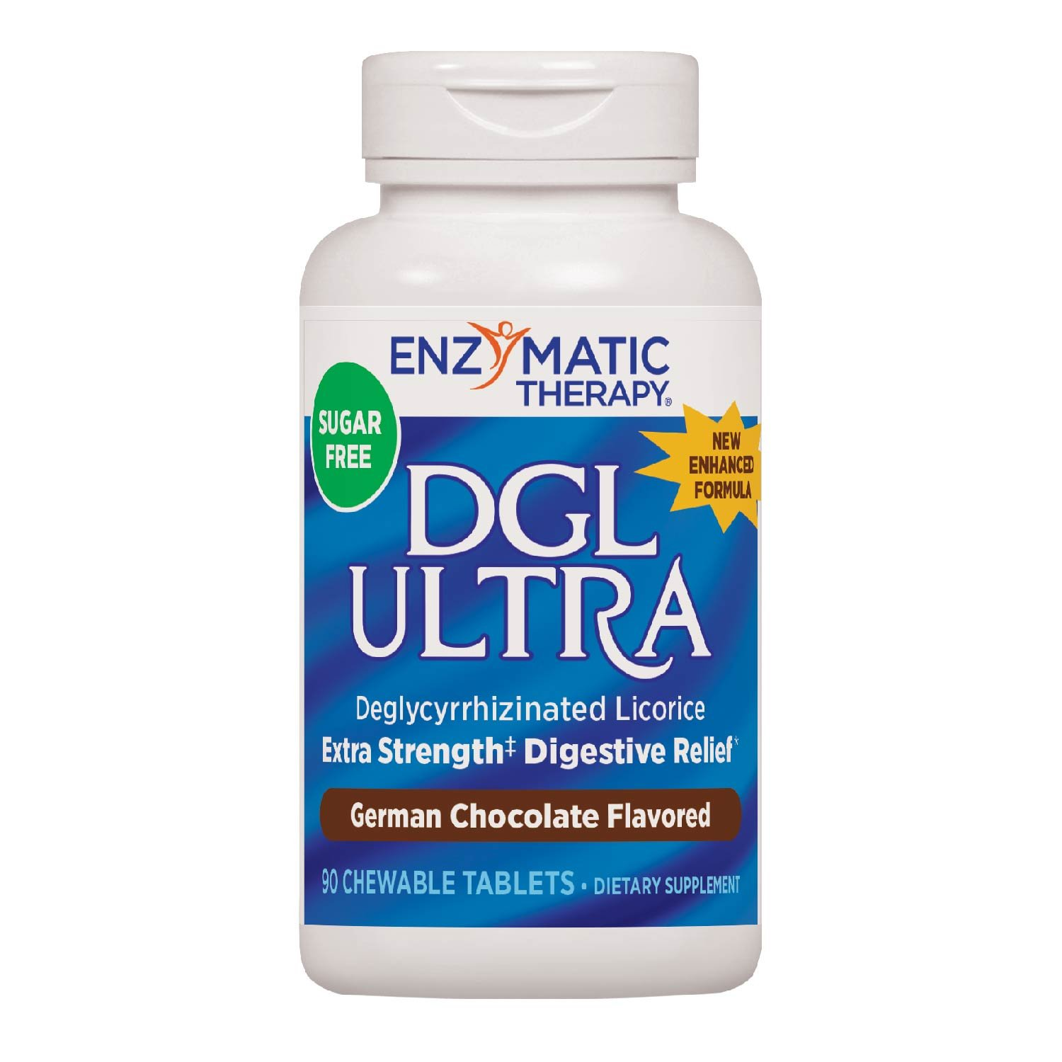 Enzymatic Therapy DGL Ultra German Chocolate Fructose Free/Sugarless Chewable Tablets (90 count)