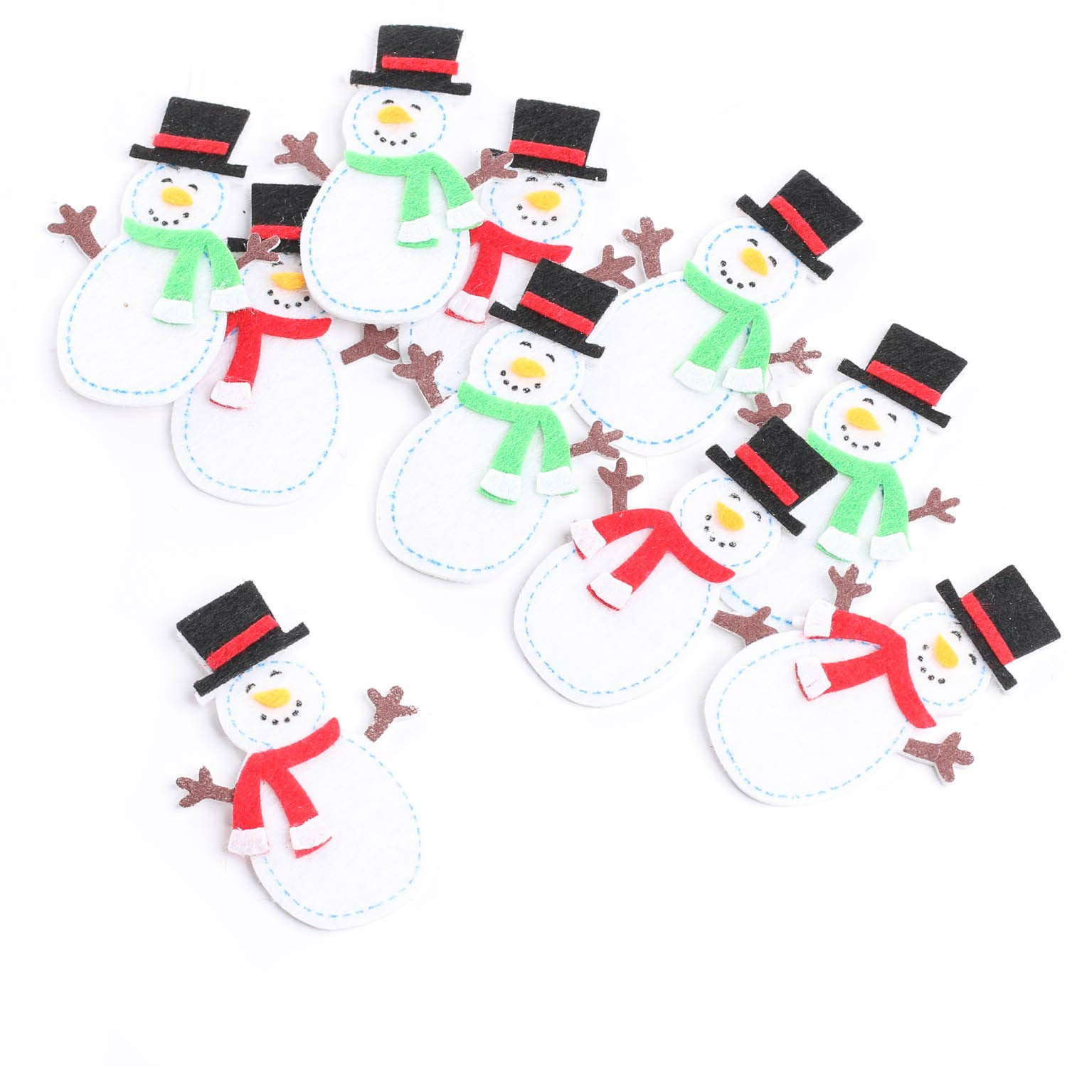 Jolly Felties Snowmen in Top Hats with Sticky Backs Package of 30