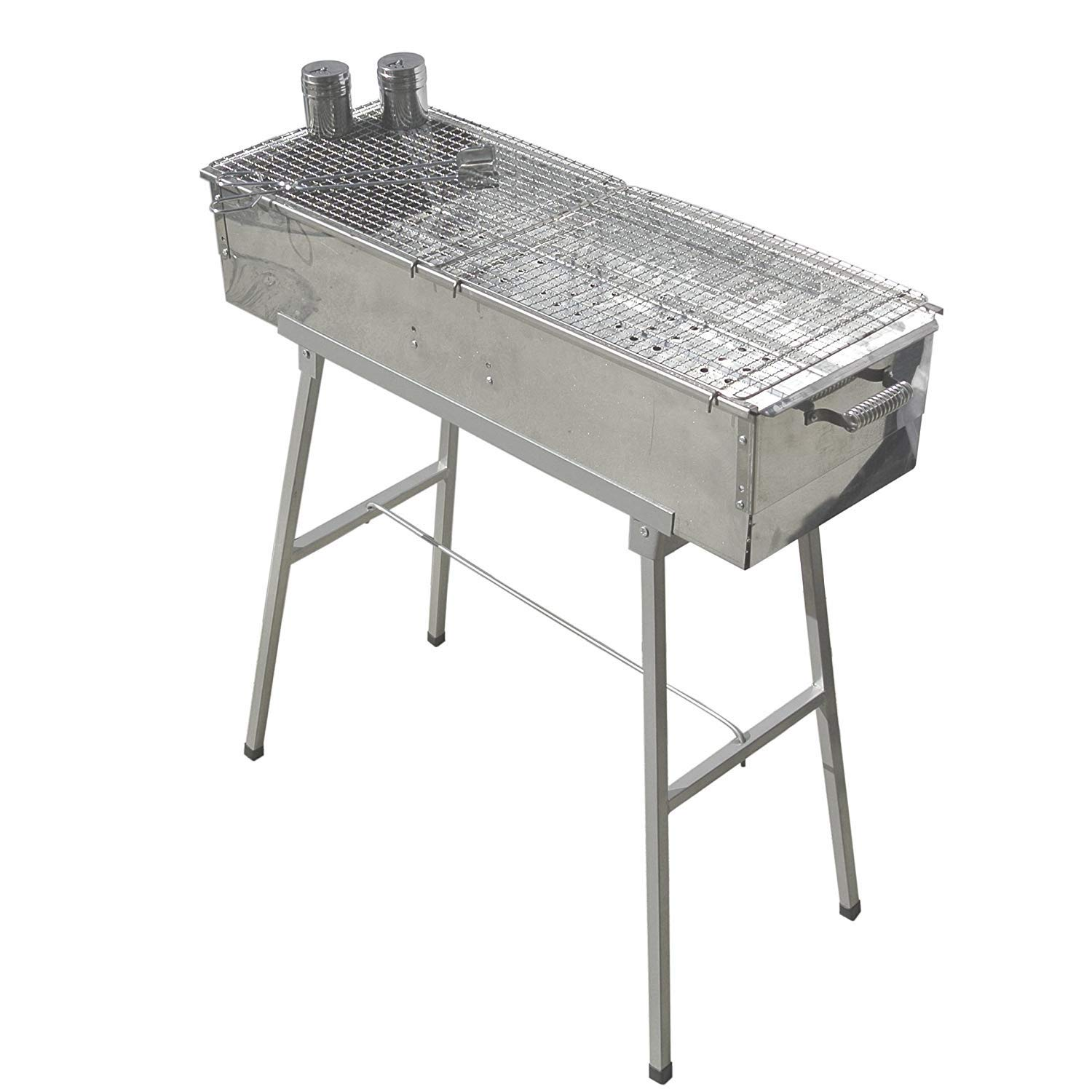 Makang Portable Stainless Steel Charcoal Grill with 2X Stainless Steel mesh Grille.