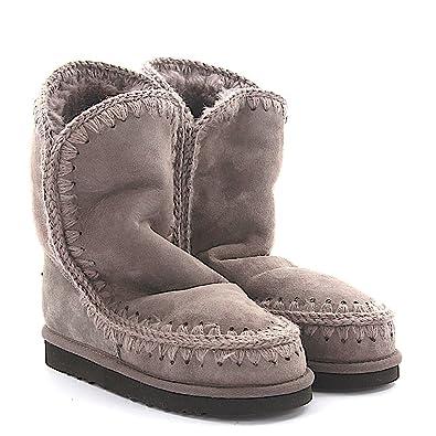 24 Mou Eskimo Veloursleder Rosa Stiefeletten Boots Grau kPXnw80O