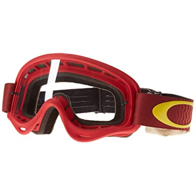 Oakley XS O-Frame Shockwave Red Yellow with Clear unisex-child Goggles (Red, Small), 1 Pack: Automotive [5Bkhe1010337]
