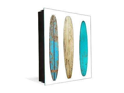 Concept Crystal Caja Llavero con 50 Ganchos para pequeña Empresa K03 Tabla de Surf de Madera