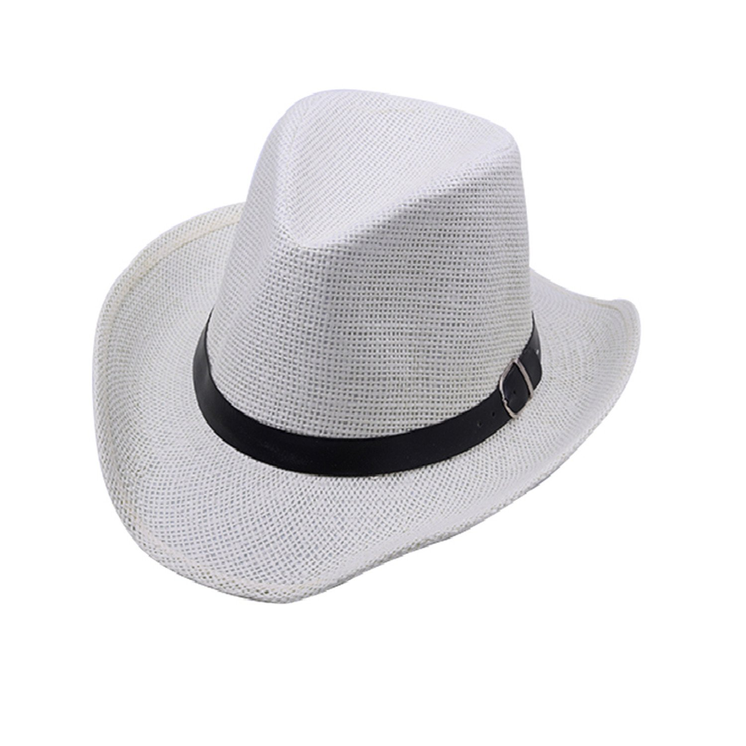 Novel Summer Men and Women Cowboy Hat Wide Brimmed Jazz Hats Feminino Sun Straw Hat Caps Beach Hat Chapeau Band Sonne Women