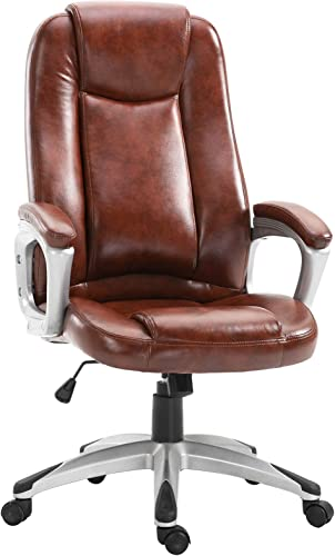 Vinsetto PU Leather High Back Ergonomic Executive Office Chair Computer Desk Seat