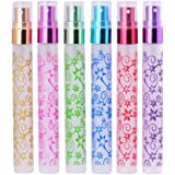 MUB Flower Printing Bottles,Travel Frosted Glass 10ml Small Empty Aromatic Fragrance Fine Mist Spray Perfume Bottles Atomizers Mother's Day Gift