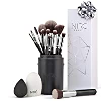 Niré beauty set: Make Up pennelli trucco con pennello di bellezza, frullatore e detergente