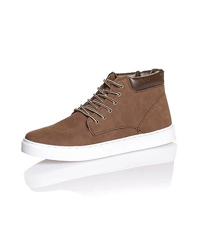 01502c61ac6 BLZ jeans Basket montante chocolat pour homme - couleur  Marron - taille  45